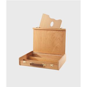 Cassetta valigetta bellearti portacolori  vuota con divisori e tavolozza