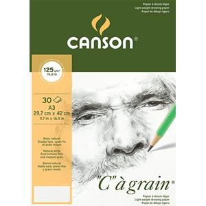 colore: Bianco naturale 14,8 x 21 cm Canson C /à grain Blocco di carta da disegno 180 g//mq 30 fogli grana fine A5 bianco