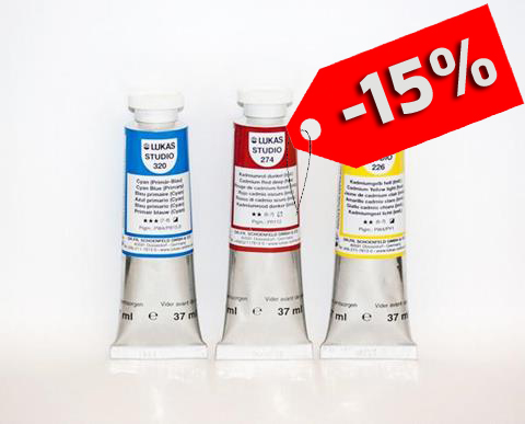 Colore a Olio Studio Lukas in tubo da 37 ml